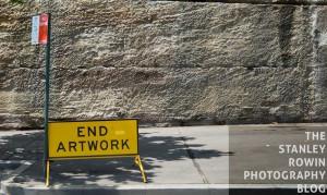 Humorous Road Sign: End Artwork