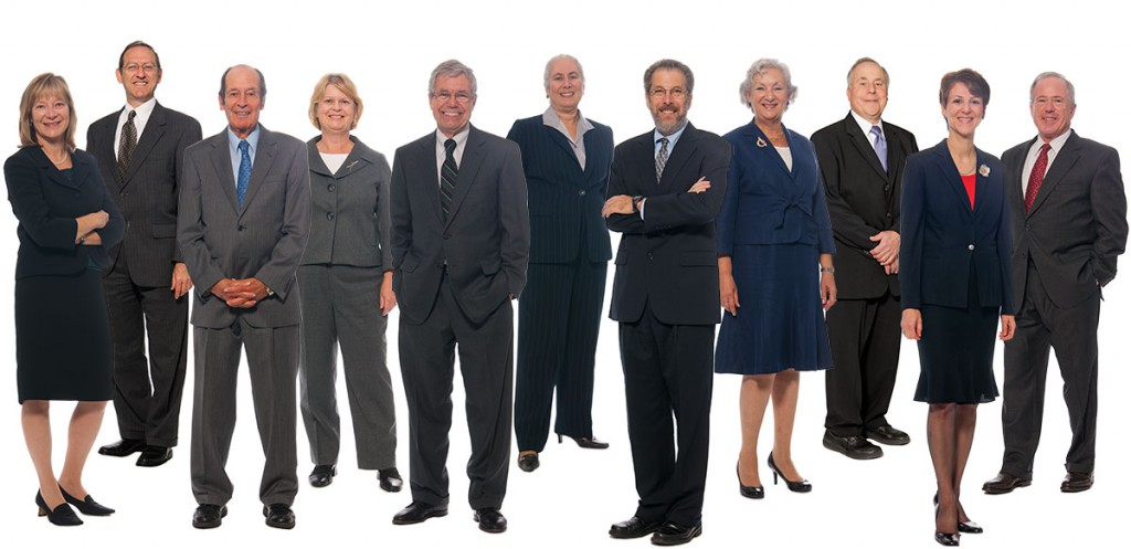 Photo of 11 attorneys for promotional piece for law firm