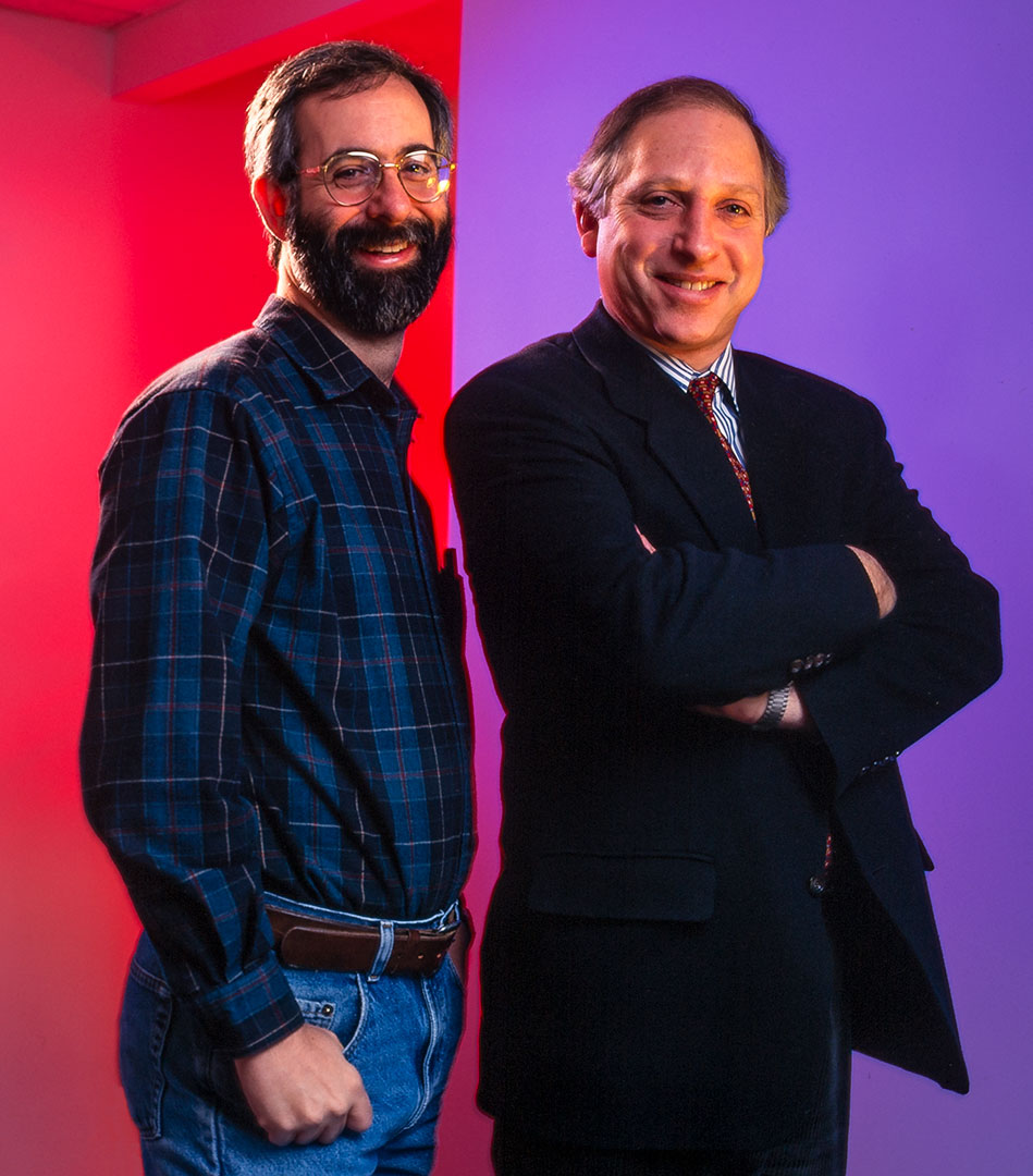 Photo of Dan Bricklin and Russell Werner founders of Trellix and VisiCalc