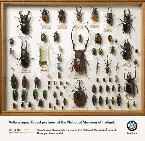 National Museum of Ireland Ad for Volkswagen