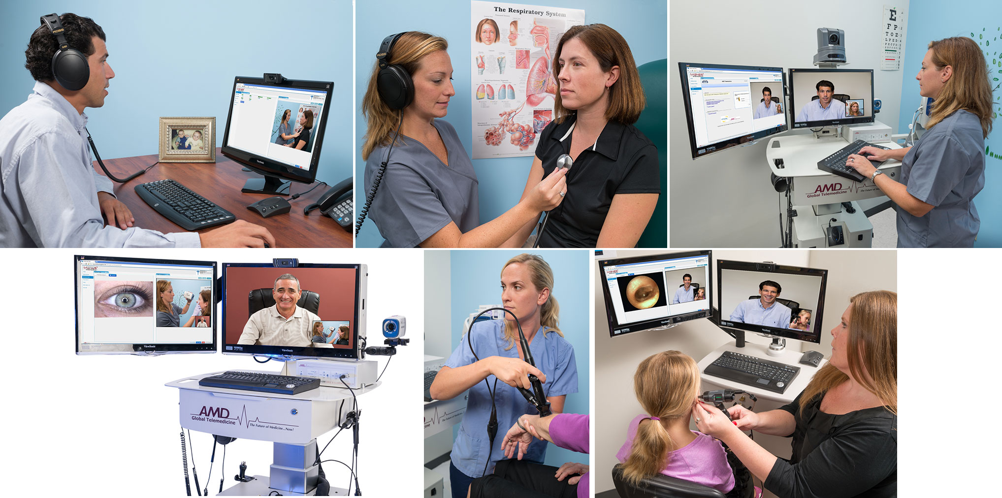 Photography for the TeleHealth and TeleMedicine Service Industry of some of their products in use