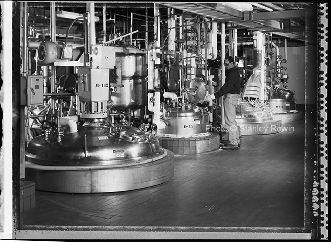 Inside Polaroid's Film Manufacturing Plant: chemical room, Waltham MA
