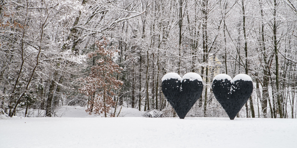 2 Hearts Out In The Snow