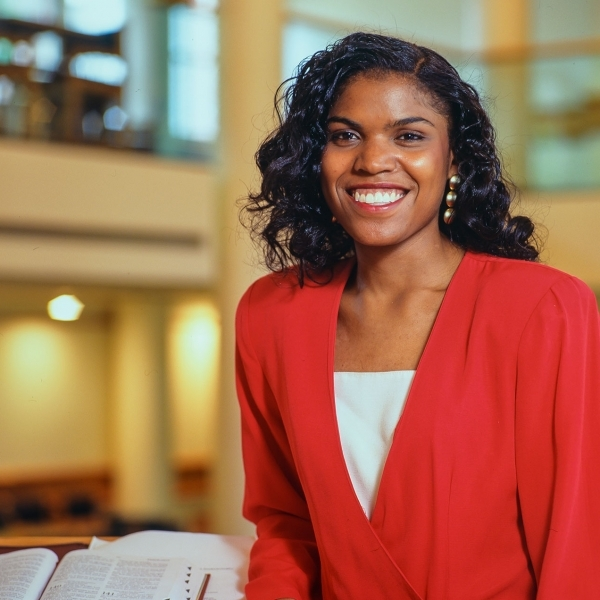 Theological Studies student at Harvard Divinity School photographed for Glamour Magazine