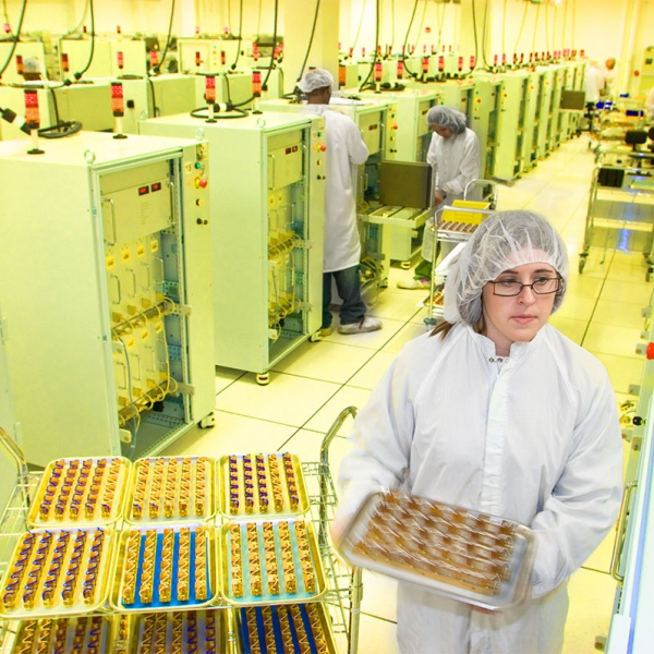 Industrial Clean Room Photograph: Manufacturing Integrated Circuits