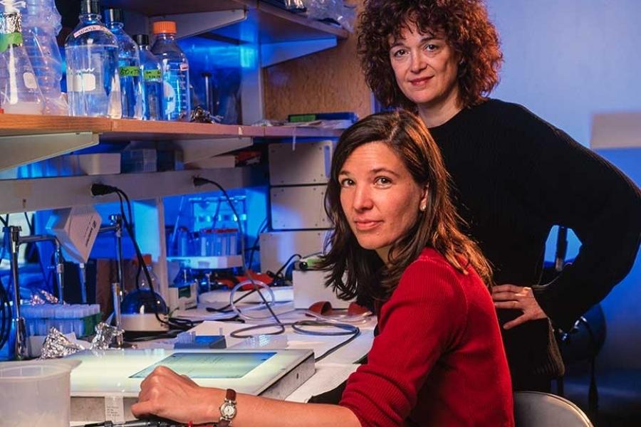 Nobel Winner Linda B. Buck with Bettina Malnic at Harvard Medical School