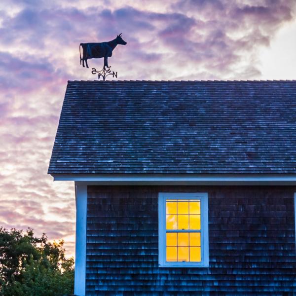Sunset Over Vineyard Barn