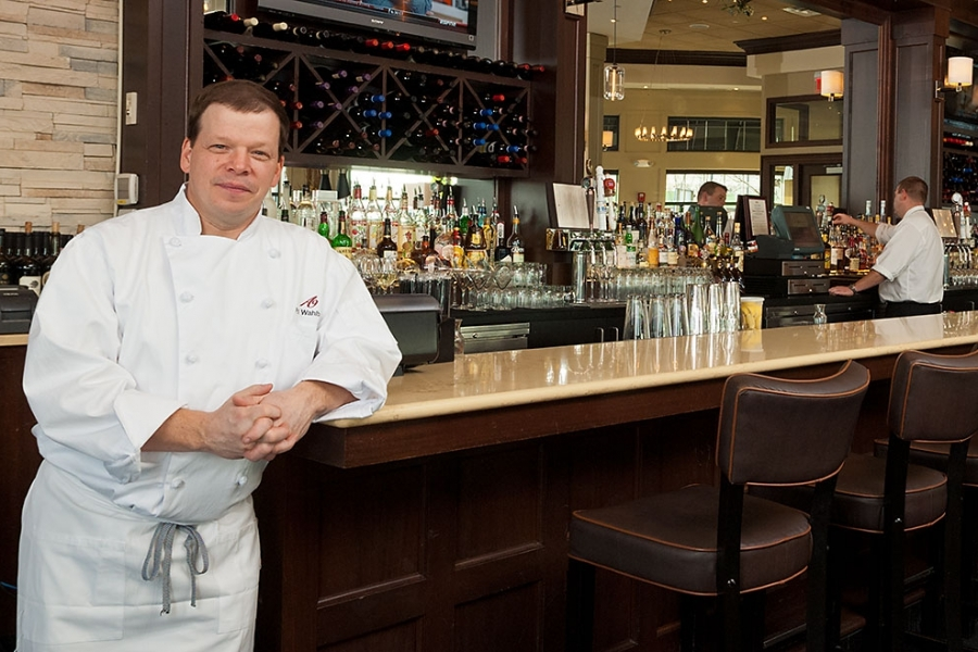 Paul Wahlberg in his Alma Nove Restaurant-Hingham Savings Annual Report