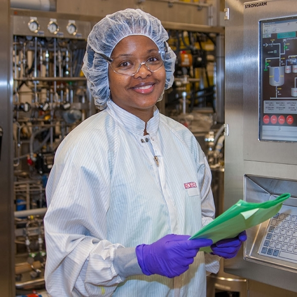 Corporate Portrait in Biogen Biotech plant