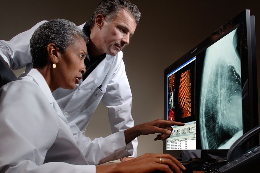 Planar Monitors: Doctors Looking at X-rays
