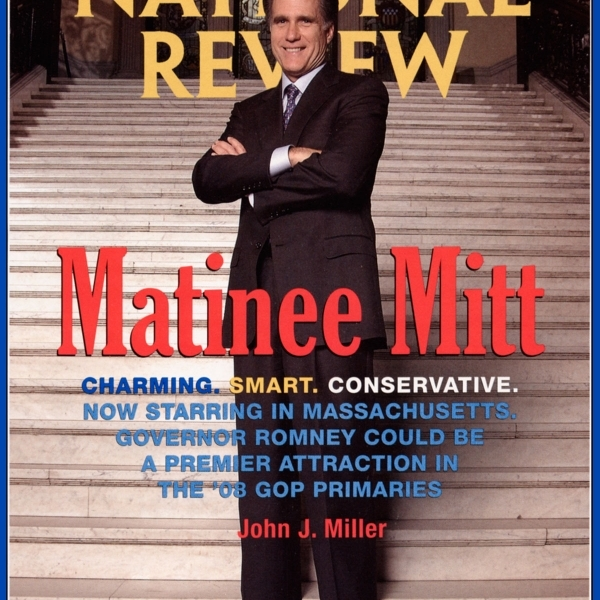 Mitt Romney: Cover for National Review Magazine