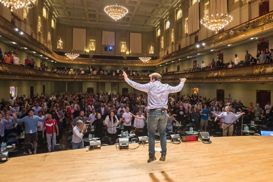 Something Strange Happening On The Stage Of Boston's Famous Symphony Hall